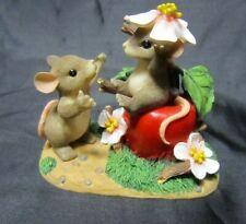 New listing Fitz & Floyd Charming Tails Apple of My Eye mice figurine Retired 89/110