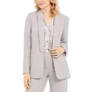 Calvin Klein Womens Parker Twill Open Front Blazer Jacket NWT
