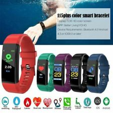 Smart Bracelet Sports Watch Step Calorie Counter Bluetooth Tracker Pedometer US