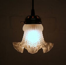 A Beautiful French Antique Satin Glass Ceiling Light Early Century Period