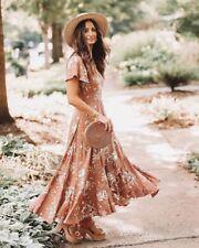 Spell Designs Rosa Garden Party Dress Camel - Size L BRAND NEW