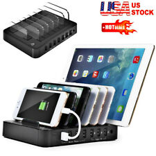 S760 7-Port Multi USB Charger Rapid Smart Charging Station for Multiple Devices
