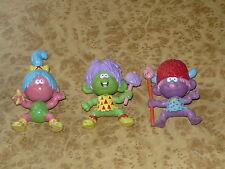 Lot of 3 1980s Vintage Prehistoric Kids Tribe Plastic Rubber Toys 1987 M.T.C
