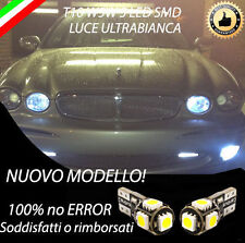 COPPIA LUCI POSIZIONE 5 LED JAGUAR X-TYPE T10 W5W BIANCO CANBUS 100% NO ERROR