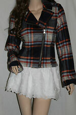 NWT! HOLLISTER by Abercrombie Womens Wool Blazer Jacket Plaid Coat Medium $160