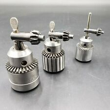 """Aircraft Tools Lot of 3 Drill Chucks w/ Keys 0""""-1/2"""" Chucks"""