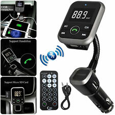 Wireless Bluetooth Handsfree Car Music FM Radio Transmitter SD Slot MP3 Player