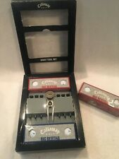 """Rare Callaway Golf Divot Tool Set & 1"""" Flat Coin Style Golf Marker 9 balls 6t's"""
