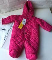 Ralph Lauren Girls Snowsuit All In One Coat pink 3M UK 0-3 MTHS