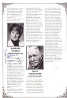 ENGLISH ACTRESS BARBARA MURRAY HAND SIGNED THEATRE PROGRAMME PAGE