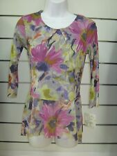 Weston Wear 3/4 Sleeve Top with Beautiful Spring Colors NWT Size XS $30.99