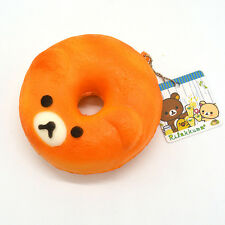 10CM Rilakkuma Donuts Squishy Slow Rising Bread Cartoon With Ballchain Toy Strap
