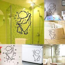 Kids Bathing Wall Stickers Cute Waterproof Removable Baby Bathroom Wall Decor