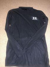 New listing Under Armour ColdGear Boy's Large Mock Black Long Sleeve Top