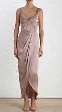 Zimmermann sueded drape long dress | Mink Formal Bridesmaid Silk | Size 0, 3