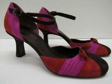 Via Spiga Colorful Suede Closed Toe Pumps Heels Shoes Red Pink Plum Womens 8
