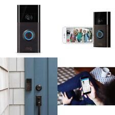 Ring Black Wireless Video Doorbell Sensor Smart Phone 2 Way Speaker Voice