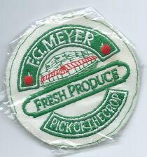 F G Meyer fresh produce pick of the crop advertising patch 3-1/2 dia #537