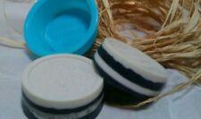 3 Soap Bars Handmade Activated Charcoal, Clay, Tea Tree Oil Face Bar Organic Set
