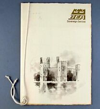More details for bea british european airways sovereign service first class airline menu london