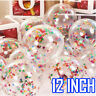 "10 20 12"" Confetti Latex Balloons Helium B-DAY Party Wedding Baby Shower Large"