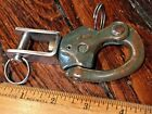 """VINTAGE OLD MERRIMAN #2 SNAP SHACKLE WITH FORK BAIL APROX 4 1/4"""" NICE PATINA"""