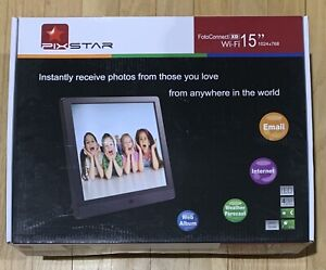 Pix Star FotoConnect XD Wi-Fi - 15 inch Web enabled Digital Picture Frame NIB