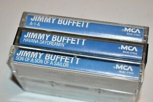 Jimmy Buffett Cassette Lot of 3  Son of a Son of a Sailor, A1A & Havana Dreamin'