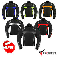 Mens Motorbike Motorcycle Jacket Waterproof Textile Biker Armoured CE Cordura