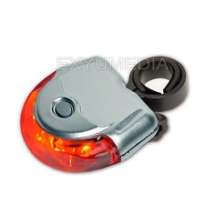 StVZO 5 LED Fahrrad Rückleuchte Silber Rücklicht Fahrradbeleuchtung Rad Leuchte