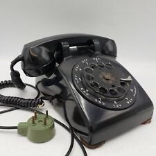 Vintage Black Rotary Dial Phone Telephone Bell System - Western Electric