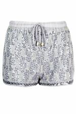 Womens Glitter Sequin Bling Tie Lace Up High Waist Bead Ladies Hot Pants Shorts
