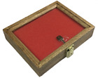 Oak Wood Display Case 7 1/2 x 9 1/2 x 2 for Arrowheads Knives Coins & More