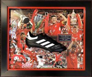 Steven Gerrard Signed Boot Framed Display Certificate