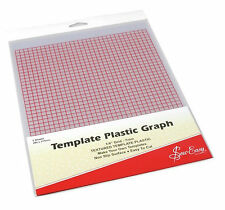 "Template Plastic ~ ¼"" Grid ~ 2 Sheets"