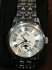 GEVRIL  CHELSEA  Automatic  (VERY RARE) Moon Phase Bracelet Watch Mode l#2301
