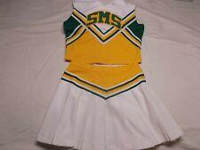 Halloween Green/Yellow/White Cheerleader Uniform SMS costume Varsity. Adult L