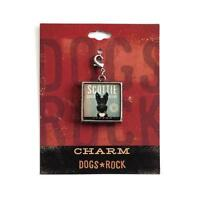 Dogs Rock Scottie Dog Charm with Lobster Clasp - Double-Sided