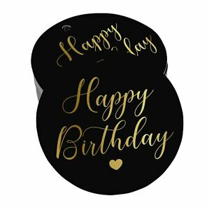 Real Foil Bottle Tag Happy Birthday Craft Tags-BY-SH2_19BG