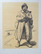 Lithographie Originale de T. A STEINLEN - Guerre 14/18 - Soldat - Numérotée
