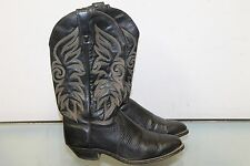 CAPEZIO Black Leather COUNTRY WESTERN Style COWBOY BOOTS