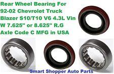 "2 Rear Wheel Bearing For 1992- 2002 Chevrolet Blazer V6 4.3L 8.625"" Rear Ring"