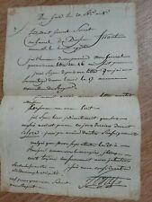 rare lettre de la campagne d'Egypte du général Sornet au général Friant