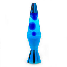 Blue/Blue/Blue Metallic Diamond Motion Lava Lamp 36cm Magma Light Peace Office B