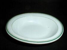 Japanese Restaurant Ware Japan Green Stripe Oval Soap Dish Bowl/s