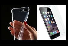 Case + Heavy Duty Foil Glass Pouch Silicone Case Cover Transparent