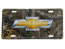 """Chevy Chevrolet Camo Camouflage Realtree 6""""x12"""" Aluminum License Plate Tag"""