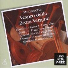 HARNONCOURT/A.SCHOENBERG CHOR/+ - VESPRO DELLA BEATA VERGINE 2CD NEU MONTEVERDI