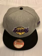 Los Angeles Lakers New Era 9Fifty Adjustable Snapback Hat Cap Gray & Black - NEW