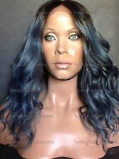 """HURRY! 14"""" Lace Front Wig * Brazilian HH Ombre Wig * Gray """"Gun Metal"""" & Bronze"""